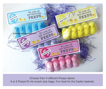 Peeps Party Favor Bag Labels – made by ItsWritenOnTheWall on Etsy