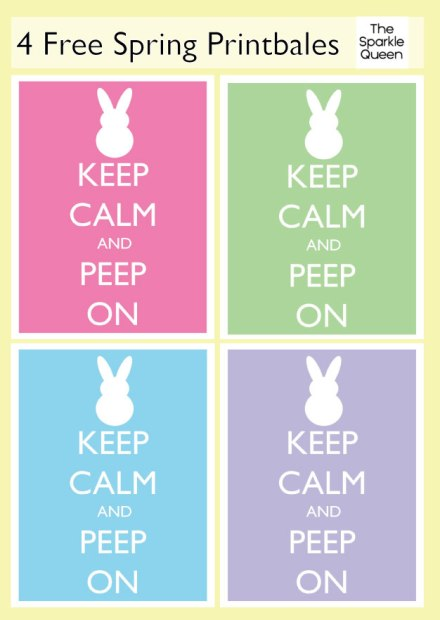 Keep Calm and PEEP On - Free Printable – shared on The Sparkle Queen
