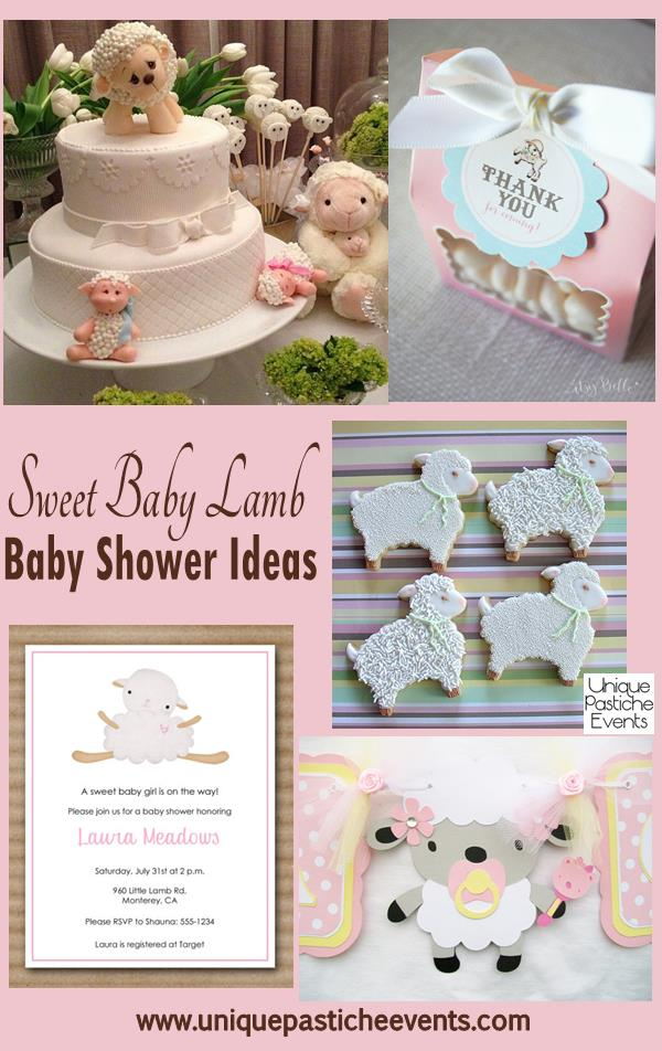 sweet lamb baby shower ideas unique pastiche events