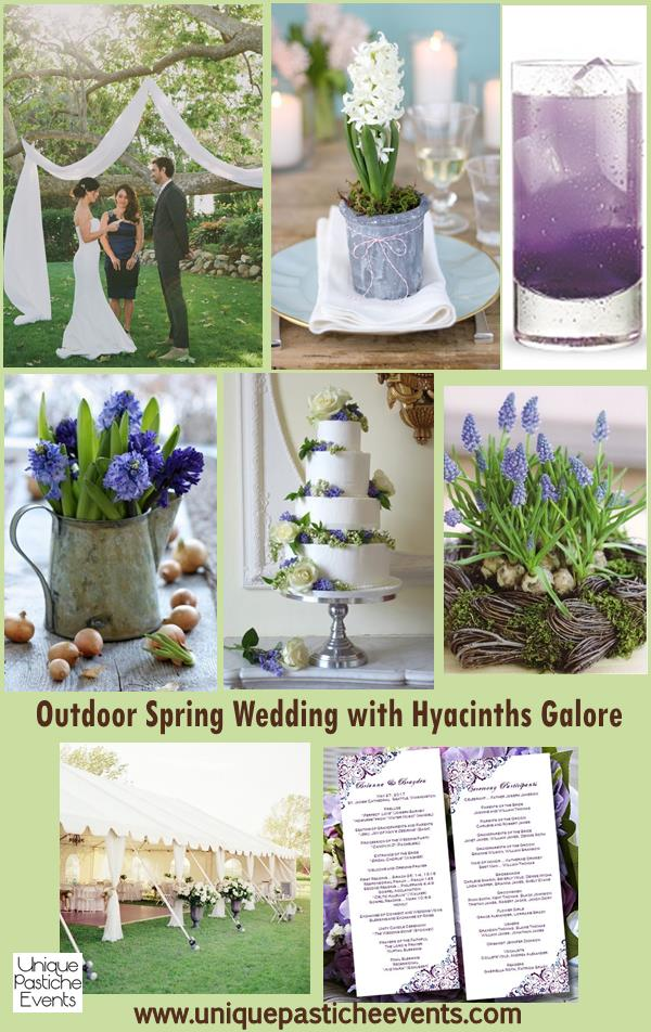 Outdoor Spring Wedding with Hyacinths Galore Ideas Unique Pastiche Events
