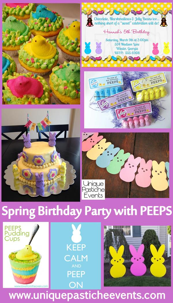 peeps kids easter birthday party ideas unique pastiche events