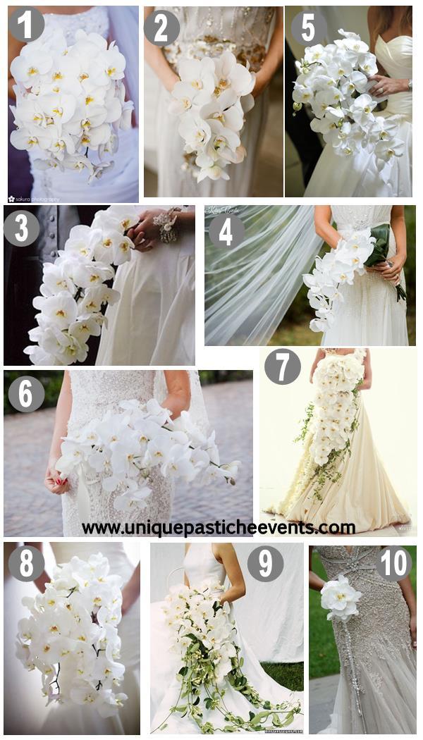 10 White Orchid Wedding Bouquet Ideas