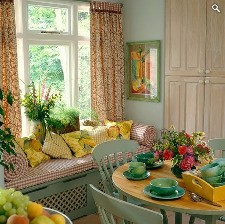 Brunch Tablescape and Window Seat – image shared on The Magazinea