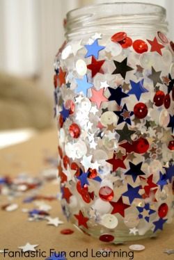 Glittery Jar Candle Craft – shared by Fantastic Fun and Learning