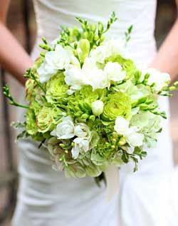 Wedding Bouquet in Green – Shared on Wedding Channel