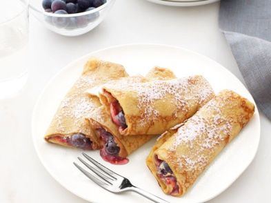 Crepes with Peanut Butter and Jam – recipe shared by Giada De Laurentiis on The Food Network
