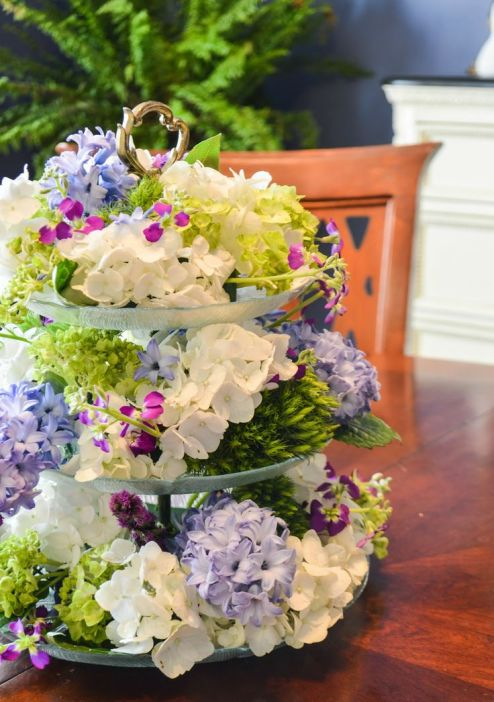 Tiered Mother's Day Arrangement – shared by Entertaining Grace