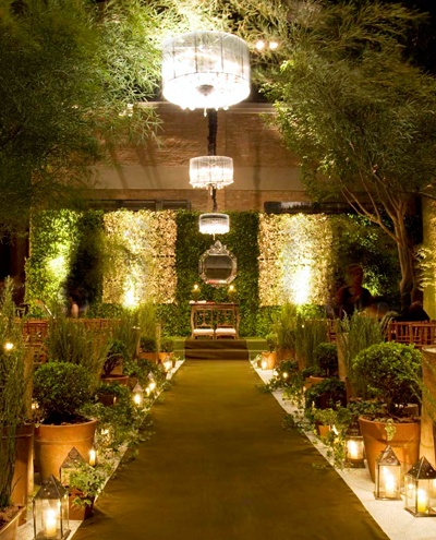 Lush Green Wedding Alter and Aisle –spotted on Pinterest