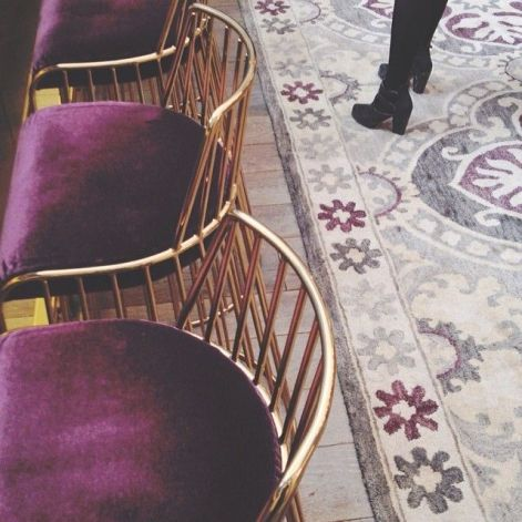 Purple and Gold Chairs – spotted on Pinterest