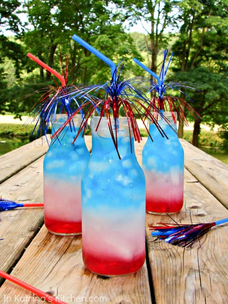 Layered Patriotic Drinks – shared by In Katrina's Kitchen