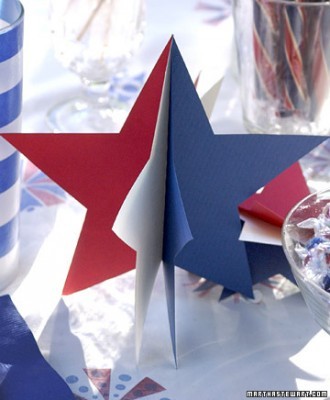 3-D Paper Star Decorations – shared by Martha Stewart