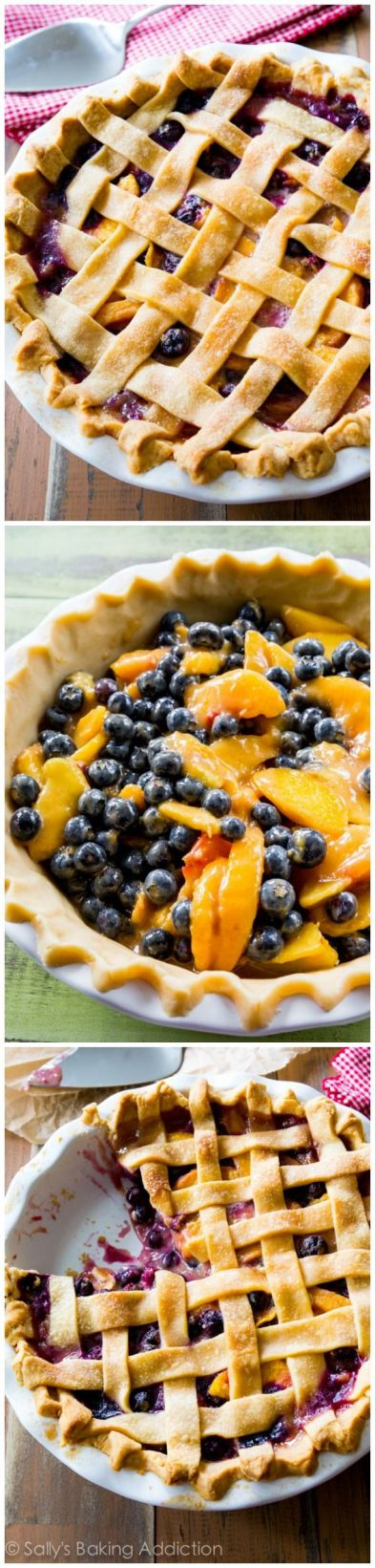 Blueberry Peach Pie - recipe and details shared on Sally's Baking Addiction