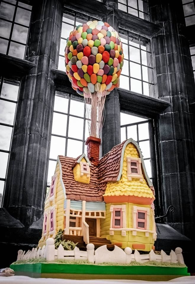 Up themed rainbow wedding ideas unique pastiche events - Cool themed houses ...