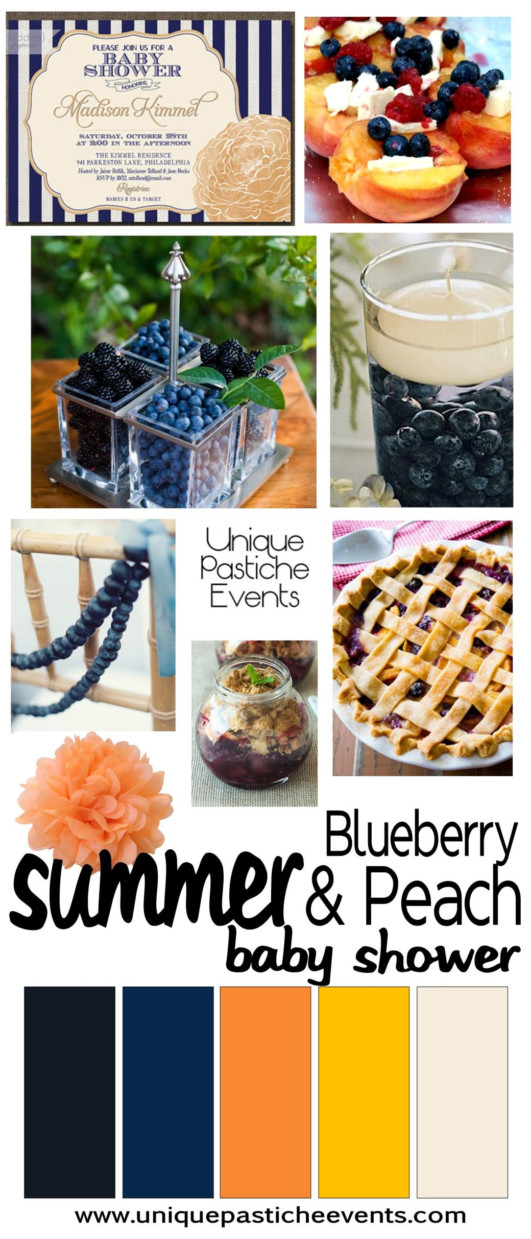 Summertime Party: Blueberry and Peach Baby Shower