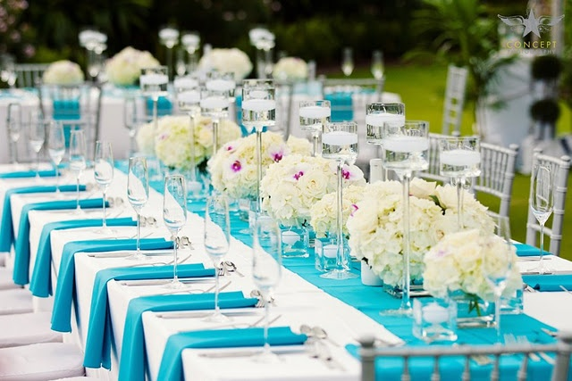 Blue and White Tablescapes - found on Pinterest