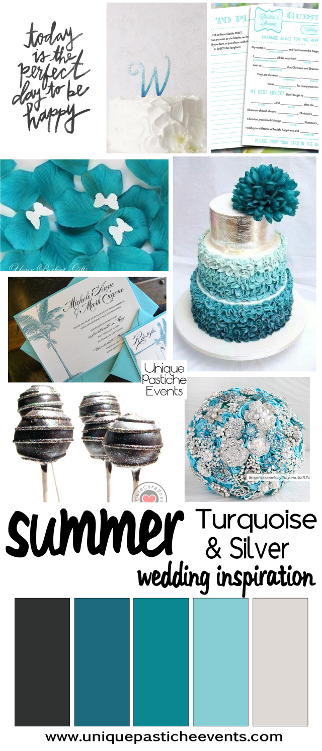Summer Wedding Ideas in Turquoise and Silver