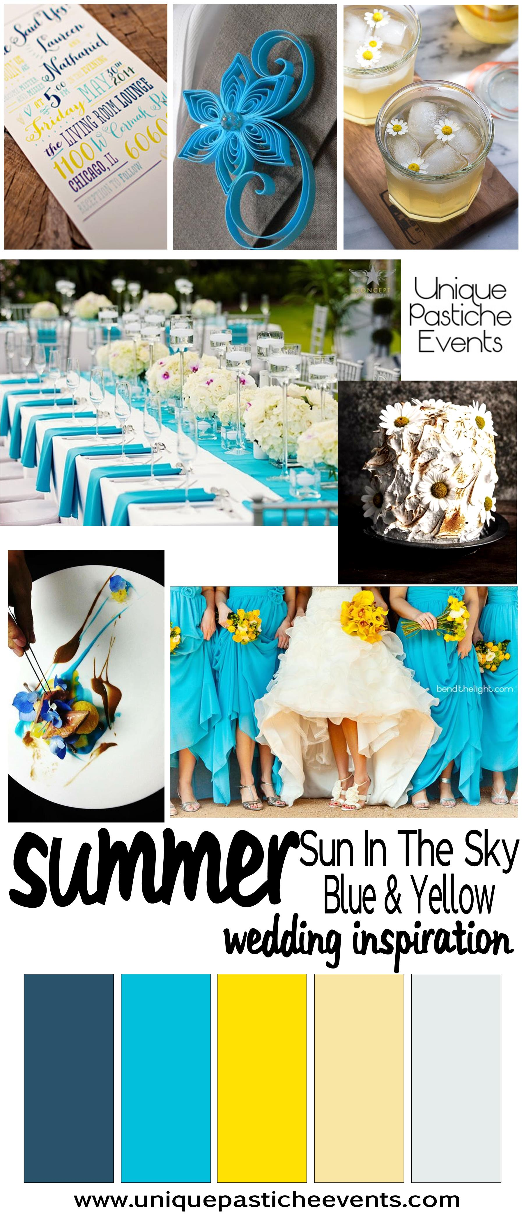 Sun in the Sky – A Bright Blue and Yellow Summer Wedding | Unique ...