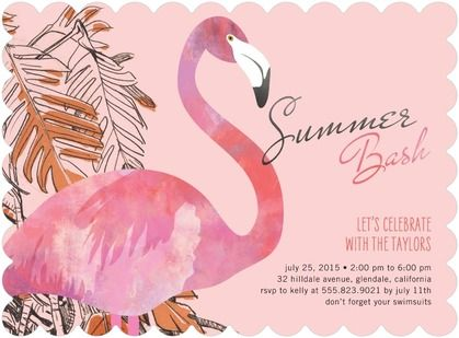 Festive Flamingo Party Invitations - available on tinyprints