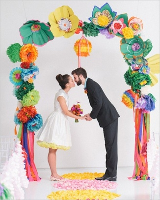 Colorful Paper Based Wedding Arch – spotted on Tumblr
