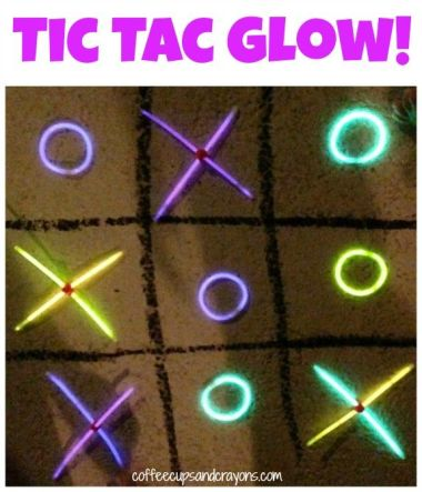 Glow in the Dark Tic Tac Glow – shared on Coffee Cups and Crayons