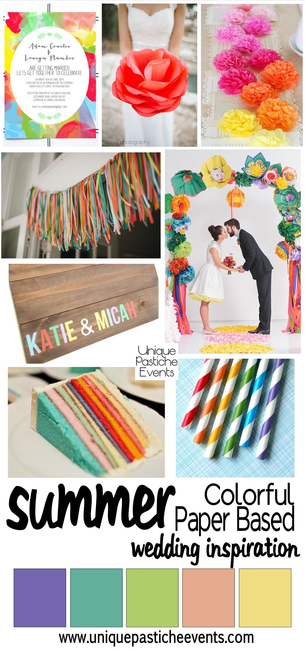 Colorful Paper Based Wedding