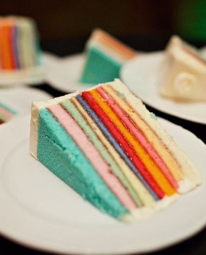 Multi Layered Colorful Cake – spotted on The Knot