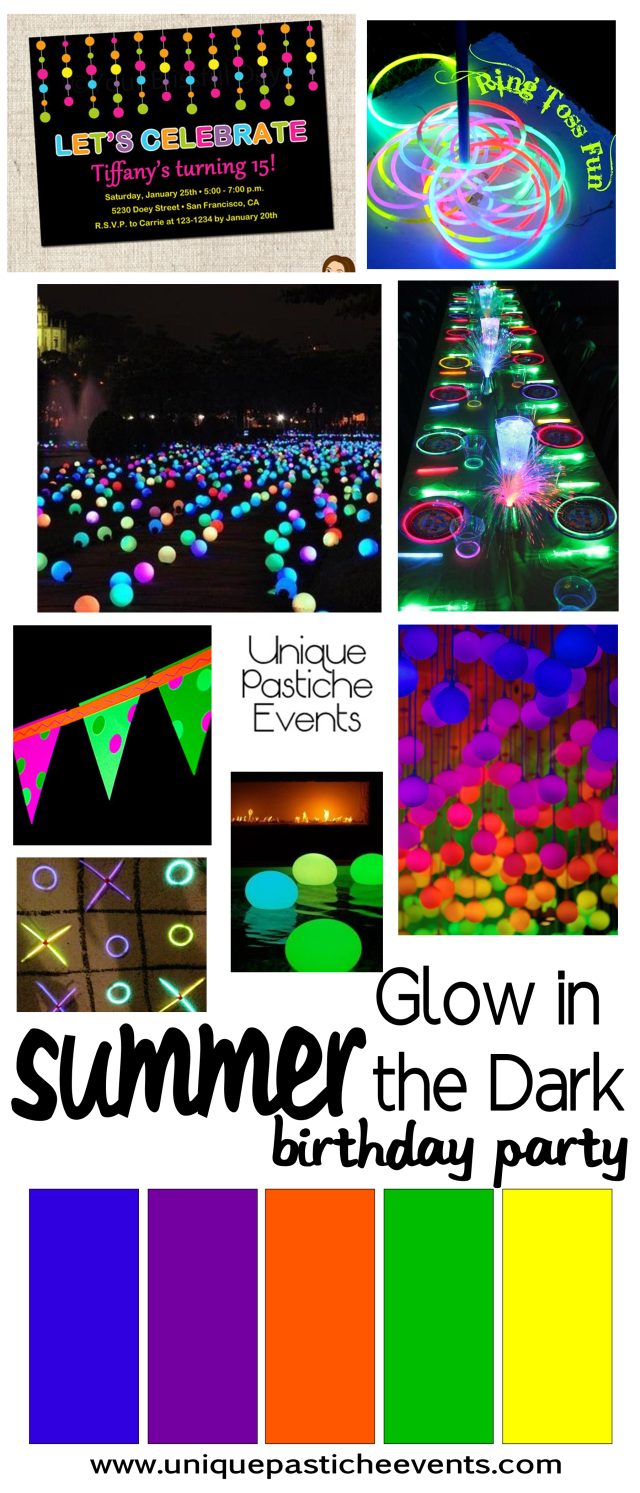 Glow in the Dark Kids Birthday Party Ideas