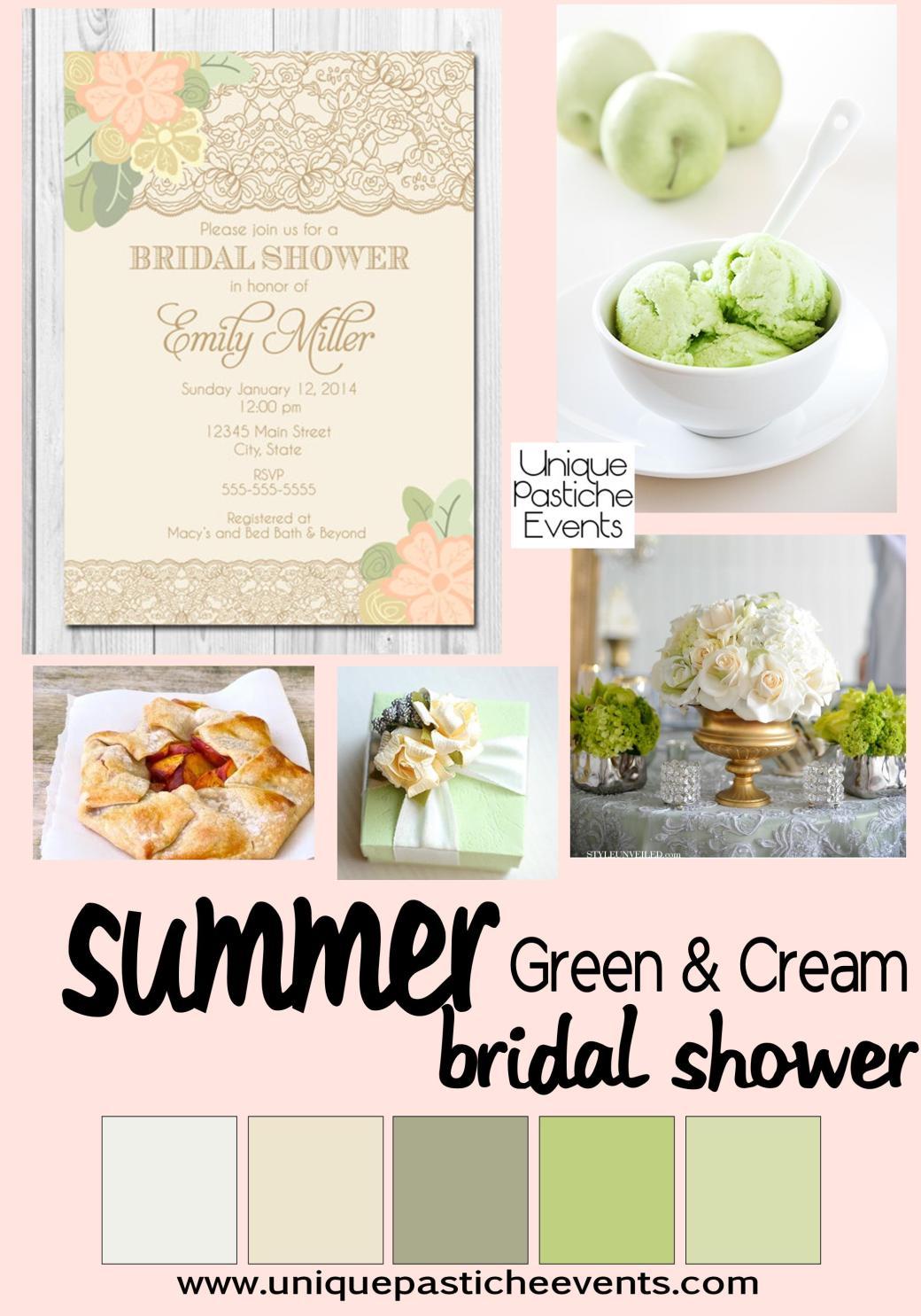 Green + Cream - Summer Bridal Shower