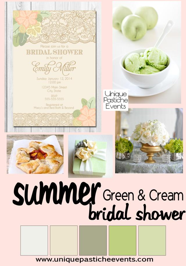 Green + Cream - Summer Bridal Shower
