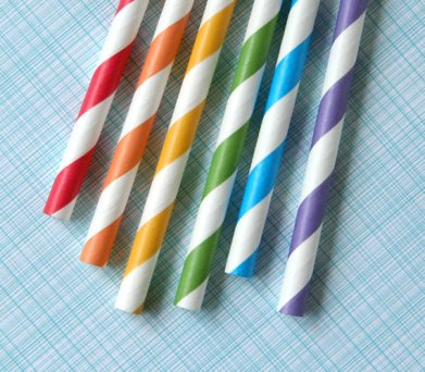 Rainbow Striped Paper Straws – sold by sweetestelle on Etsy