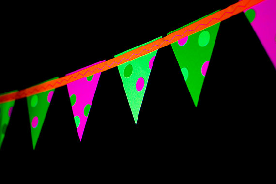 Glow in the Dark Party Banners – made by SweetLemonsDesigns on Etsy