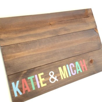 Alternative Wood Guest Book – sold by FreestyleMom on Etsy