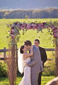 Rustic Wedding Alter Arch – shared on Brides.com