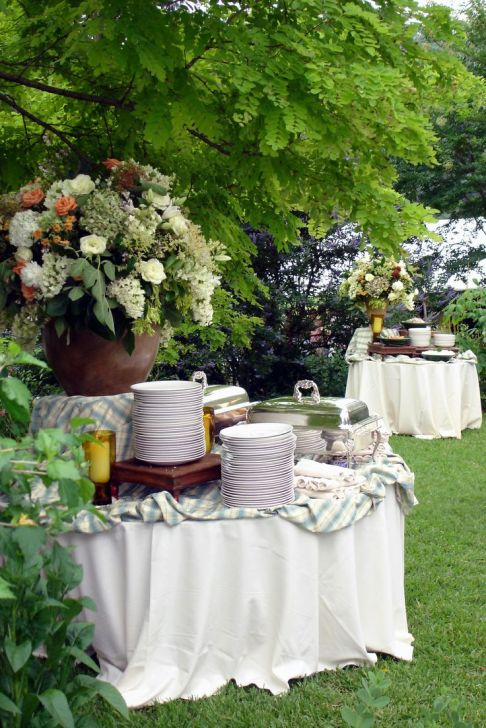 Outdoor Buffet Stations – shared on Gloriosa Atlanta