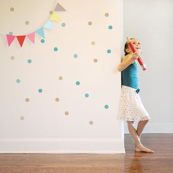 Colorful Confetti Wall Decals – made by trendypeasdecals on Etsy