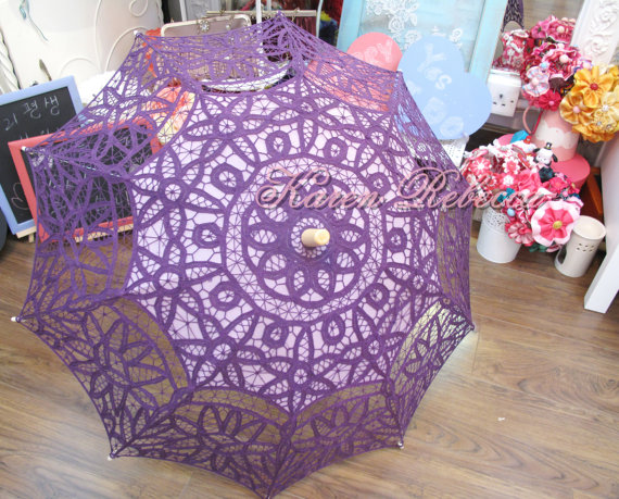 Plum Lace Parasol – made by ChoCob on Etsy