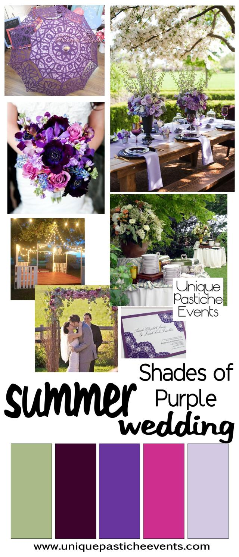 Outdoor Summer Wedding in Shades of Purple