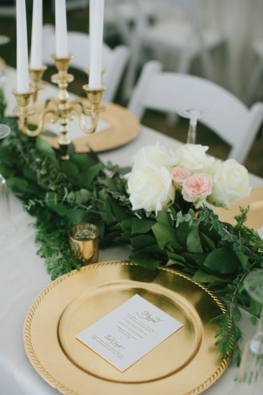 Green and Gold Tablescape – shared on 100 Layer Cake