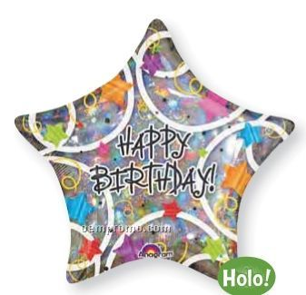 Happy Birthday Star Balloon – sold on OEMPROMO