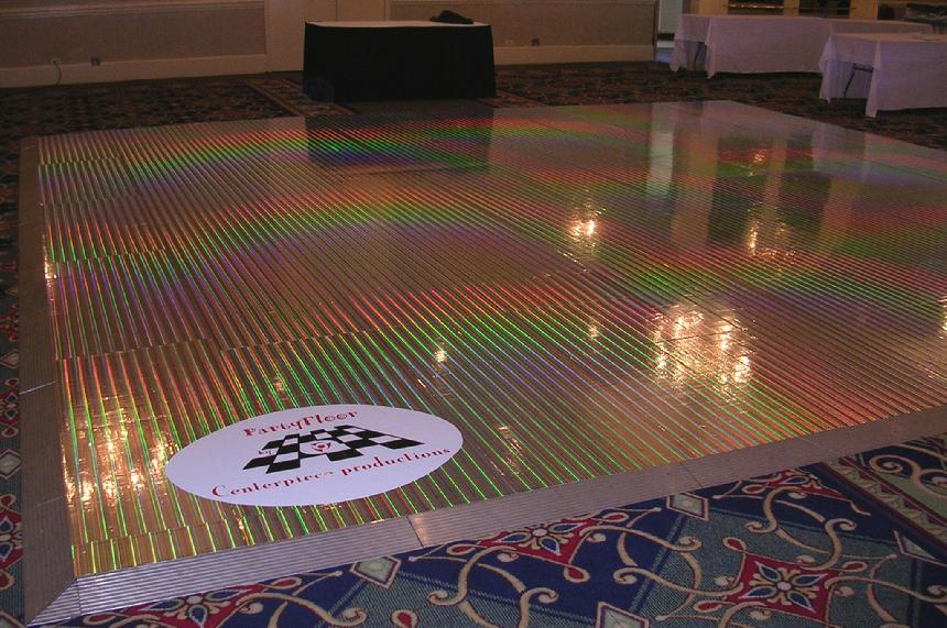 Holographic Party Floor – shared on PartyFloor