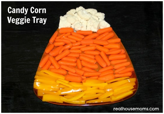 Candy Corn Veggie Tray – shared by Real Housemoms