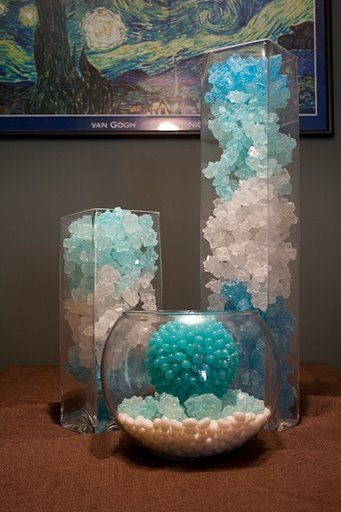 Rock Candy and Sea Inspired Décor – spotted on Pinterest