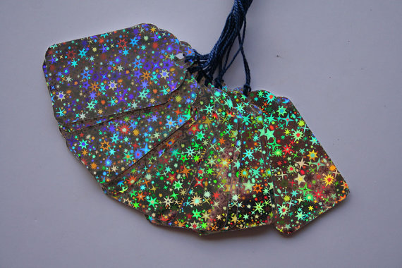 Holographic Star Gift Tags – made by artbybarri on Etsy