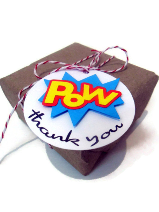 Comic Book Favor Tags – made and sold by cakeadoodledoo on Etsy