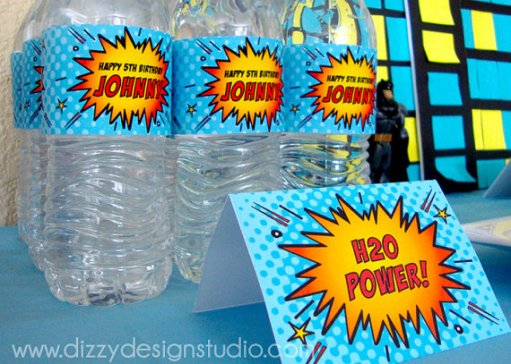 Super Hero Comic Book Food Labels – my and sold by DizzyDesignStudio on Etsy