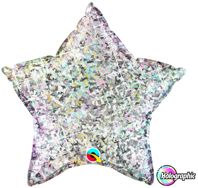 Qualatex Holographic Foil Star Balloon – sold on The Lincolnshire Balloon & Party Company