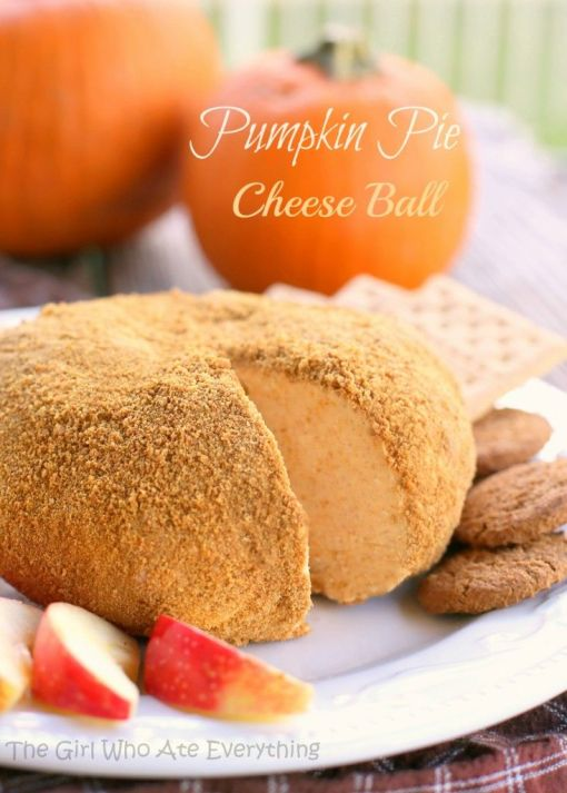 "Pumpkin Pie ""Cheese"" Ball – recipe shared by The Girl Who Ate Everything"