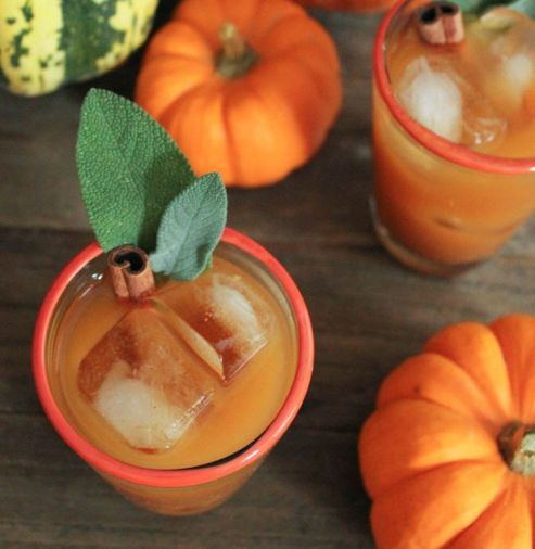 Spiced Pumpkin Punch – recipe shared by Domesticate Me