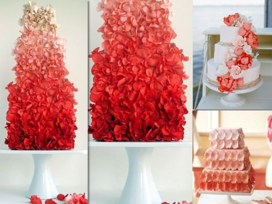 Red Ombre Flower Cake – spotted on Pinterest