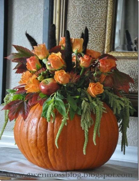 Pumpkin Centerpiece – shared in a tutorial by Gwen Moss
